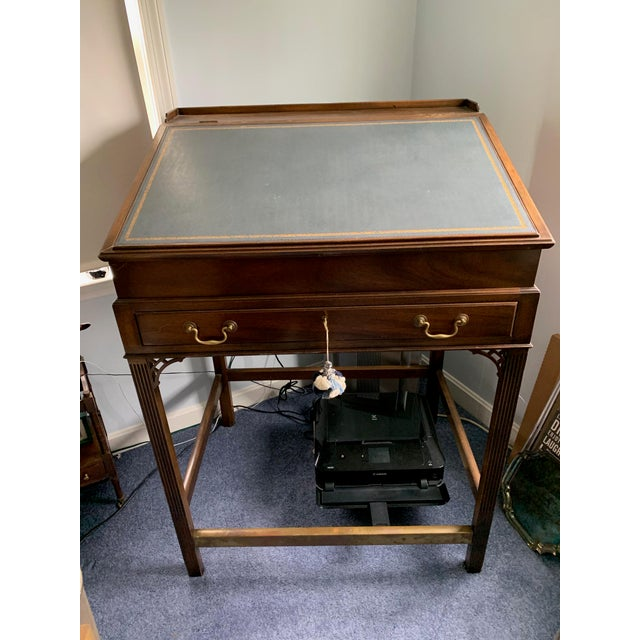 1980s American Classical Kittinger Stand Up Desk For Sale In Portland, ME - Image 6 of 6
