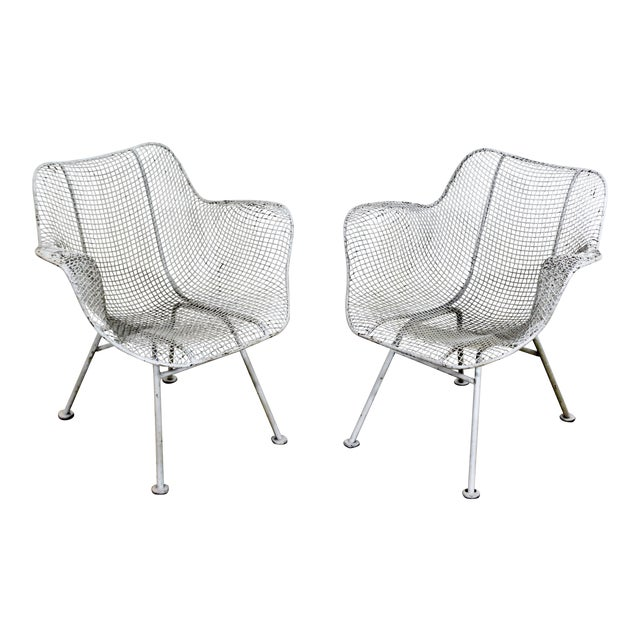 Mid-Century Modern Russell Woodard Sculptura Outdoor Patio Armchairs - a Pair For Sale