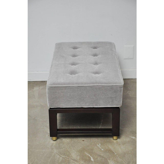 Dunbar Benches by Edward Wormley with Brass Accents For Sale In Chicago - Image 6 of 7