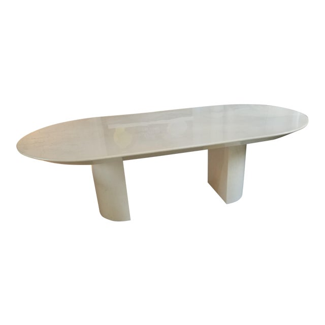 """Knife Edge Dining Table"" in Lacquered Goatskin by Karl Springer For Sale"
