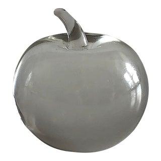 Miniature Hand Blown Art Glass Apple Sculpture For Sale
