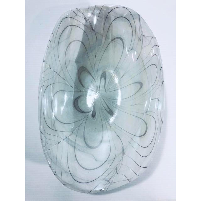 Glass 1970s Vintage Murano Glass Bowl For Sale - Image 7 of 9