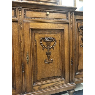 Antique 19th Century Red Oak Breakfront Preview