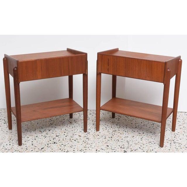 Danish Modern 1960s Danish Teak Side Tables by Borge Mogensen for Soberg Moblefabrik - a Pair For Sale - Image 3 of 11