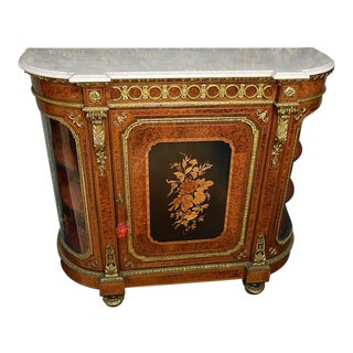 19th Century French Kingwood and Burr Walnut Salon Cabinet For Sale