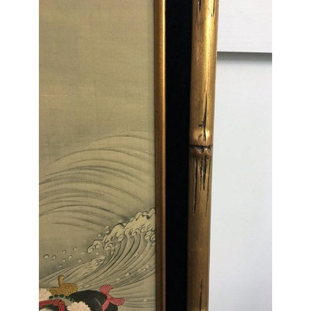 Chinese Gold Bamboo Geisha Paintings - Pair - Image 5 of 5