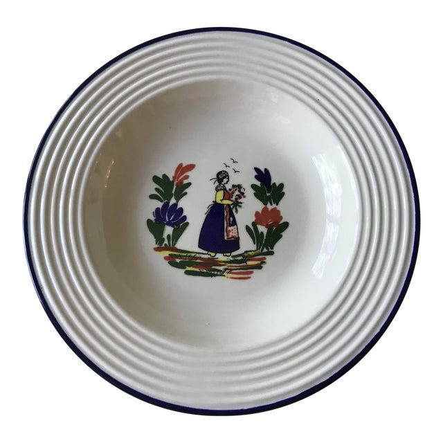 Varages French Quimper Style Dish For Sale