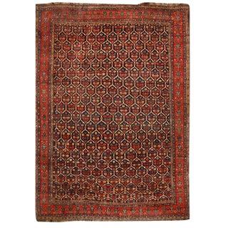 Exceptional & Rare Antique Oversize 19th Century Persian Kurdish Carpet For Sale