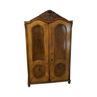 Antique 19th Century Burl Wood European Armoire For Sale