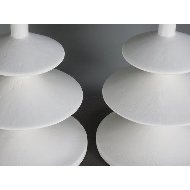 White Plaster Jmf Lamp For Sale - Image 8 of 10