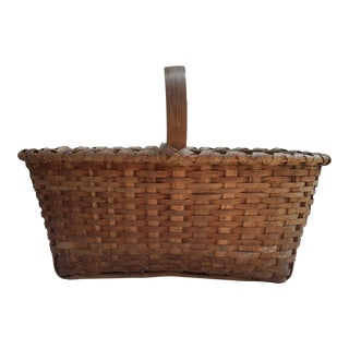 Splint Ash Gathering Basket For Sale