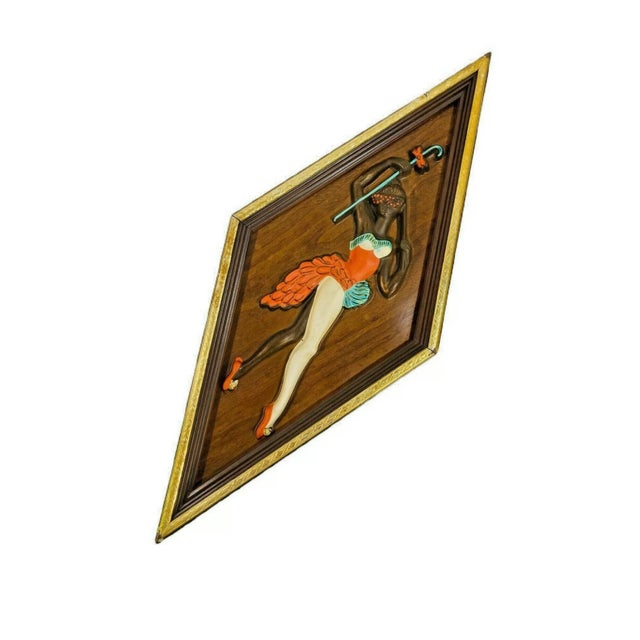 Mid-Century Modern Mid Century Kitsch Turner Nubian Harlequin Jester Wall Art - A Pair For Sale - Image 3 of 6