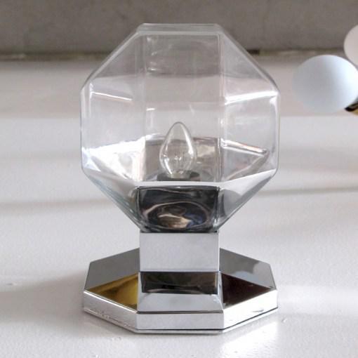 Mid-Century Modern Motoko Ishii for Staff Leuchten Modulare Chrome and Glass Light For Sale - Image 3 of 10