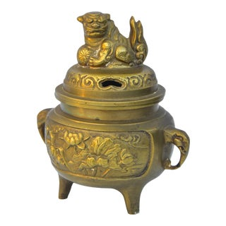 Vintage Brass Incense Burner For Sale