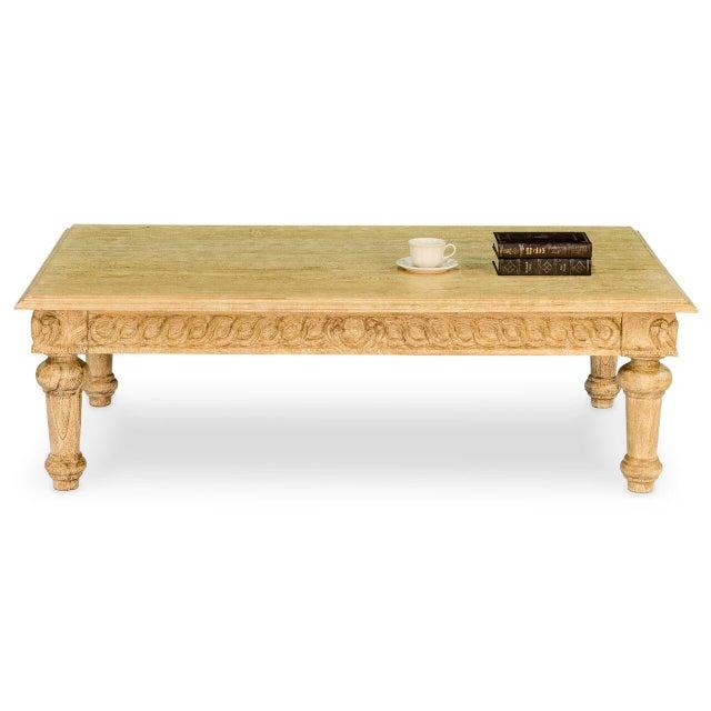 Artisan Mango Wood Coffee Table - Image 4 of 9