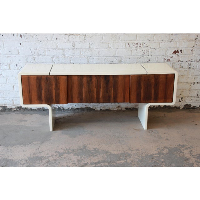 1970s 1970s Vintage William Sklaroff Mid-Century Modern Uniplane Credenza For Sale - Image 5 of 11