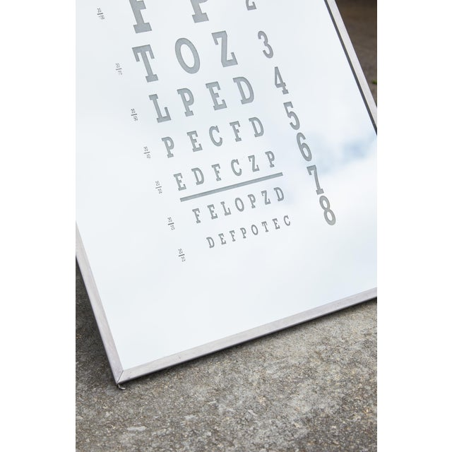Midcentury Eye Chart Mirror For Sale In Atlanta - Image 6 of 13