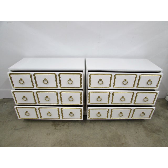 Asian Pair of Chests in the Manner of Dorothy Draper España Collection for Heritage For Sale - Image 3 of 12