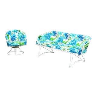 Homecrest Mid-Century Modern Patio Sofa and Chair Set
