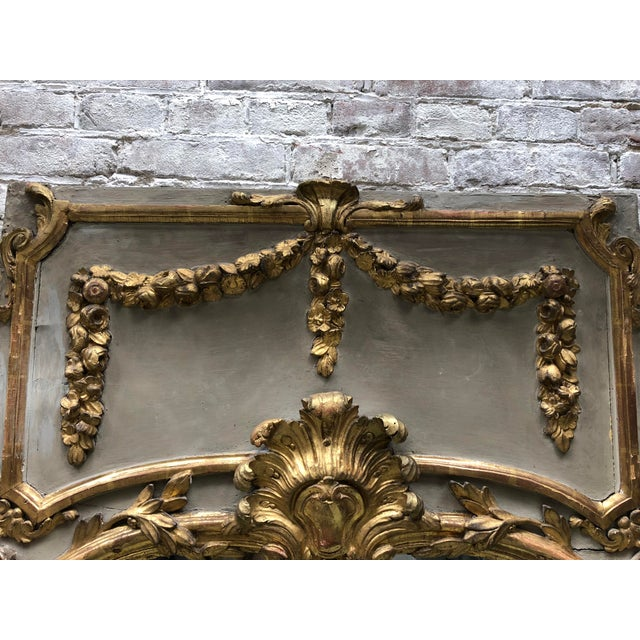 Louis XVI Louis XVI 18th Century Trumeau Mirror For Sale - Image 3 of 10