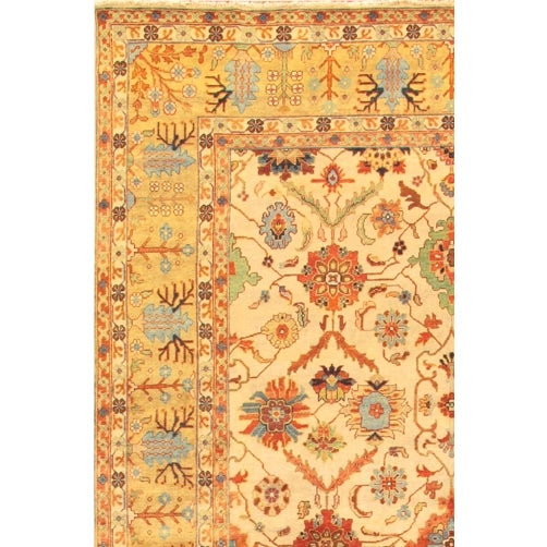Mahal Hand-Knotted Wool Ivory Area Rug- 12' x 15' - Image 2 of 2