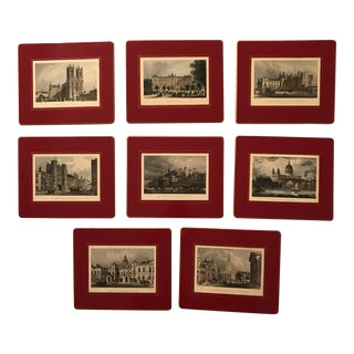 Traditional London Luncheon Table Mats - Set of 8