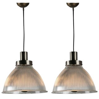 Pair of Italian 1950s Pendant Lamps For Sale