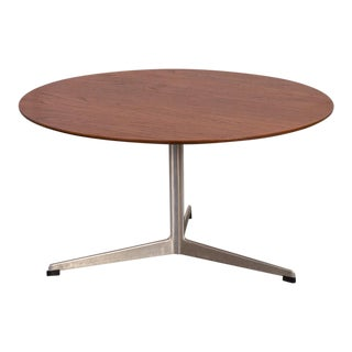 Arne Jacobsen Teak Coffee Table With Tripod Base For Sale