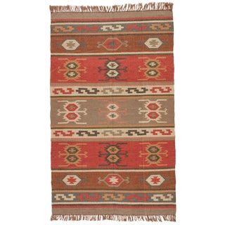 Jaipur Living Thebes Handmade Geometric Multicolor Area Rug - 2′ × 3′ For Sale
