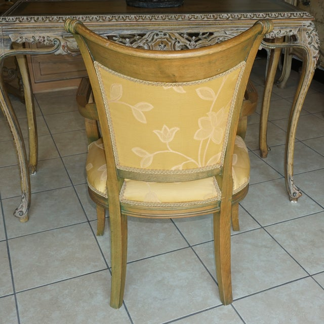 Hand-Carved European Accent Chairs - a Pair - Image 5 of 9