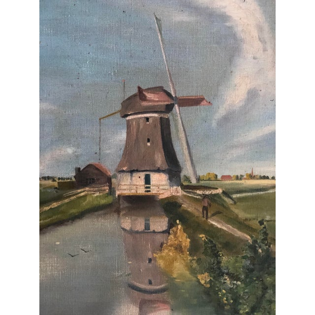 1930s Antique Continental Impressionist Oil Painting For Sale - Image 5 of 13