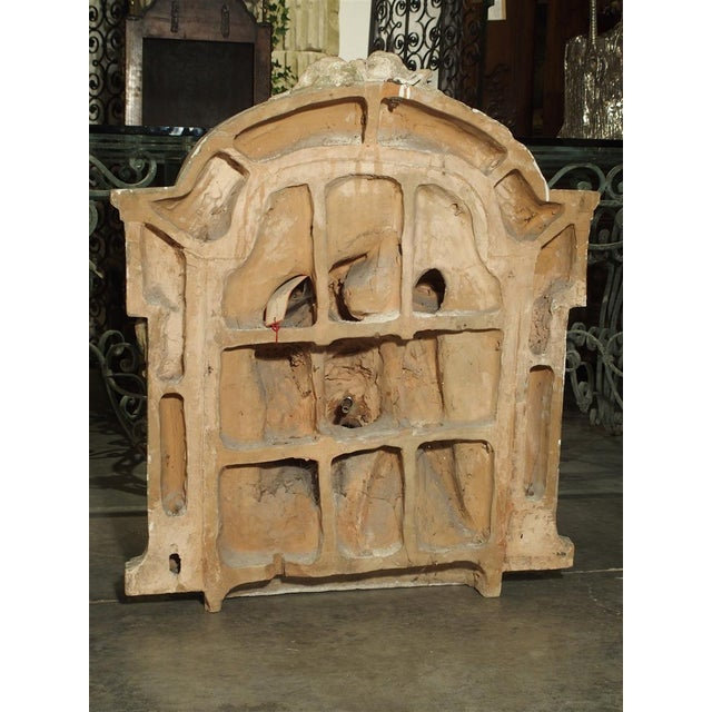 Antique French Terra Cotta Fountain Back, Circa 1860 For Sale In Dallas - Image 6 of 13
