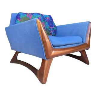Adrian Pearsall Walnut Lounge Chair Craft Associates For Sale