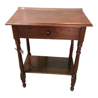 19th Century Empire Oak End Table For Sale