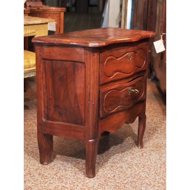 Late 18th Century 18th Century Small French Two Drawer Commode For Sale - Image 5 of 8