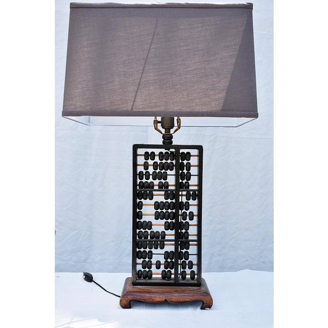 Vintage Abacus Base Table Lamp For Sale In Los Angeles - Image 6 of 6