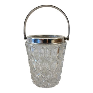 Vintage French Crystal & Silver Ice Bucket
