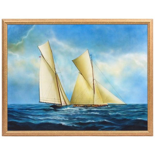 "Argentine Artist Gabriel Duarte Nautical Painting ""New Bounty"" For Sale"