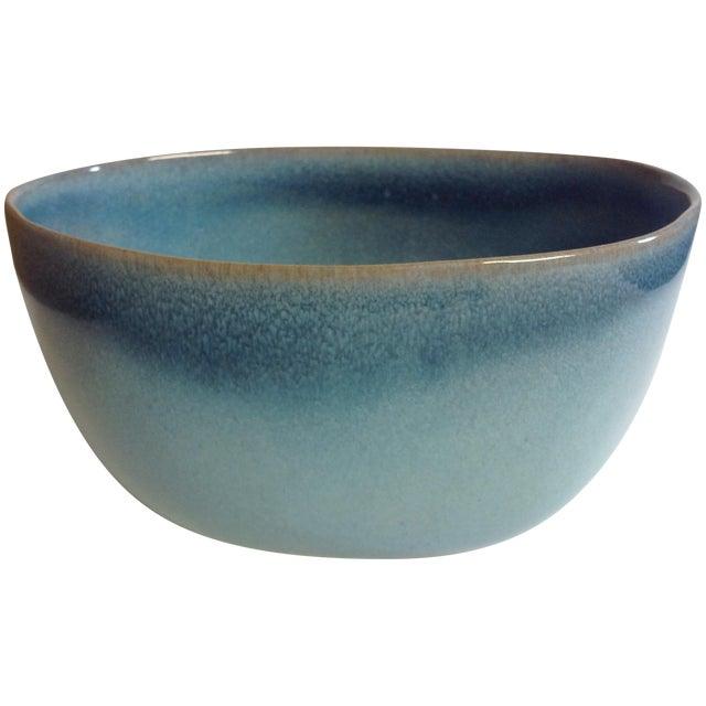 Rare Vintage Shape #37 Blue Glidden Pottery Bowl - Image 1 of 6