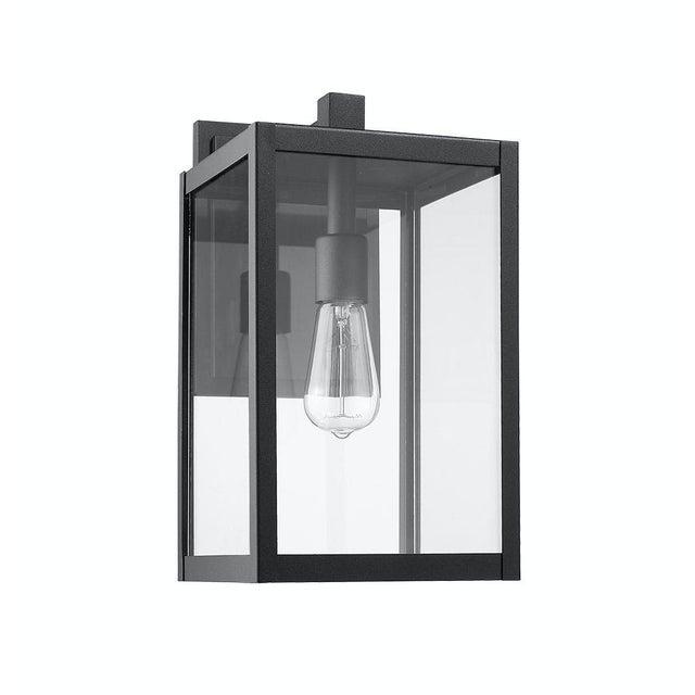 Modern Aluminum 1 Light Black Outdoor Wall Light For Sale - Image 4 of 5