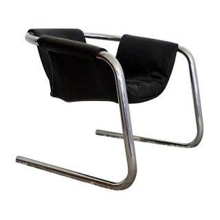 Mid-Century Modern Burke Eberle Chrome Sling Chair