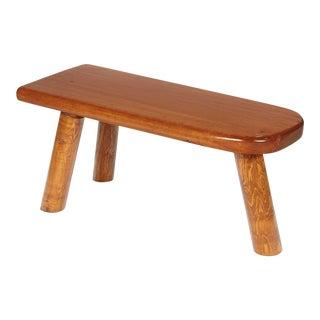 Rustic Pine Wood 3-Leg Stool For Sale