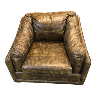Vintage Distressed Leather Armchair