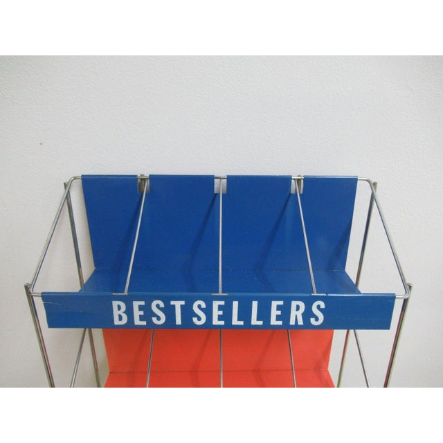 Vintage Chrome Multicolor Book Rack - Image 9 of 11