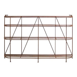 French Art Deco Iron Display Shelf or Baker's Rack For Sale