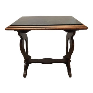 Green Marble Top Mediterranean Trestle Table For Sale