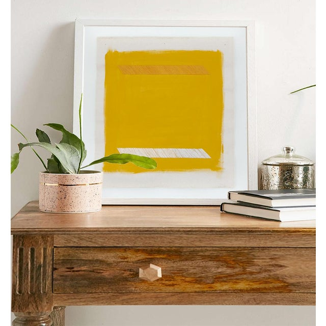 """Contemporary Mustard Yellow Abstract 16"""" Fine Art Print by Emily Keating Snyder For Sale - Image 3 of 5"""