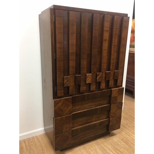 Brutalist Brutalist Armoire by Lane For Sale - Image 3 of 13