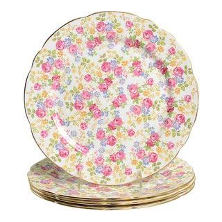 Royal Stafford June Roses Chintz Dinner Plate Set/4 For Sale