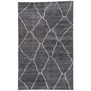Jaipur Living Carmine Handmade Geometric Dark Gray/ Blue Area Rug - 2′ × 3′